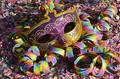 Fasching Maske Konfetti Stock