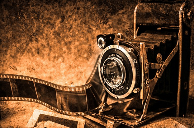 Film Kino Kamera Stock