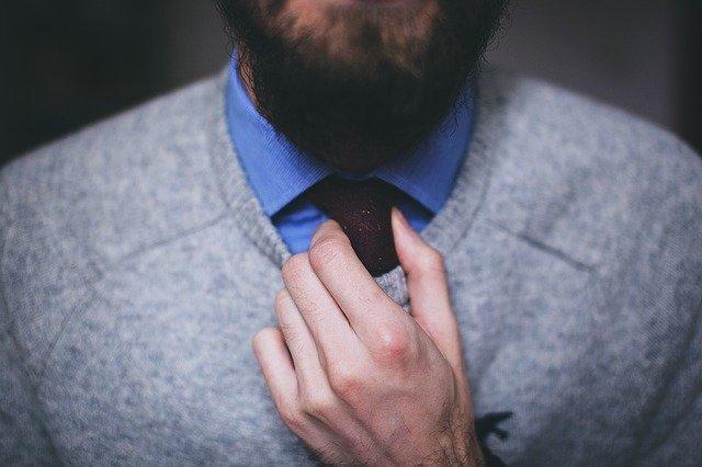 Männer Bart Style Gepflegt Stock