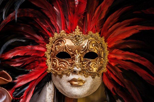Maske Fasching Karneval Stock