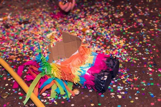 Fasching Karneval Konfetti Stock