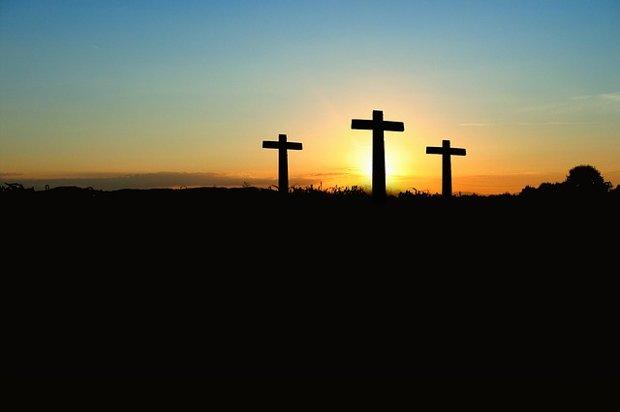 Kreuz Religion Kirche Glauben Stock