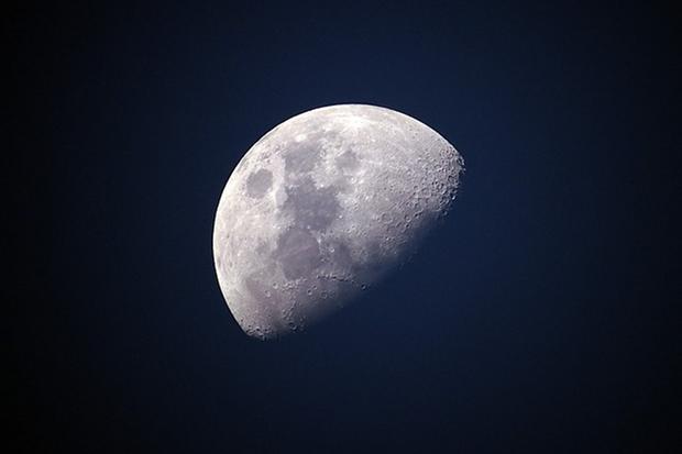 Mond Himmel Nacht Sterne Universum Kosmos Stock