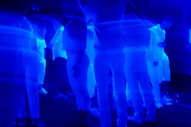 Blaulicht Stock