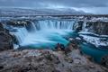 Island Norwegen Norden Fjord Fluss Stock