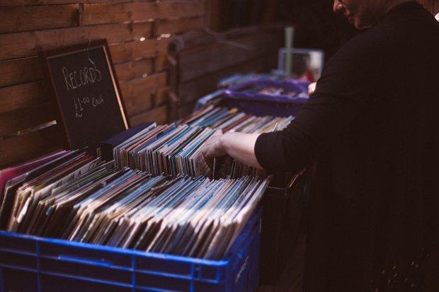 Schallplatte Flohmarkt Stock