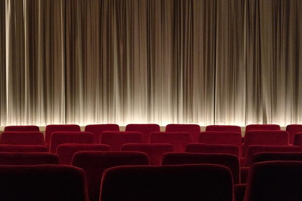 Kino Film Vorhang Theater Stock