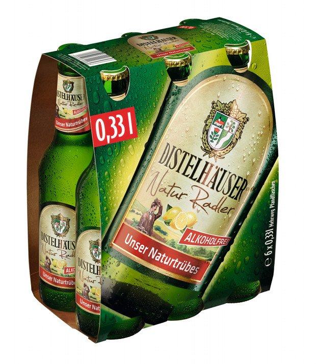 20 x 1 SixPack: Distelhäuser Natur Radler Alkoholfrei