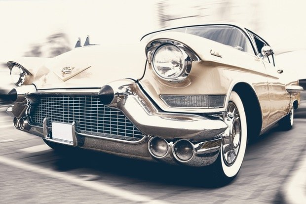 Oldtimer US Car Cadillac Stock
