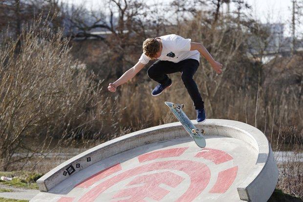 Skater Johannes Kiefer Skatemeisterschaft
