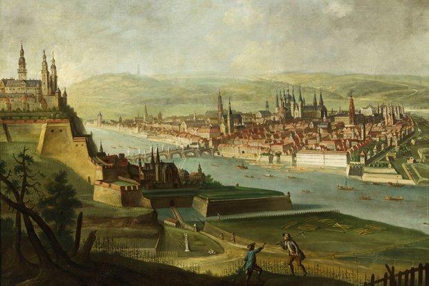 Ansicht Wuerzburg Suedwesten Brücken Ausstellung